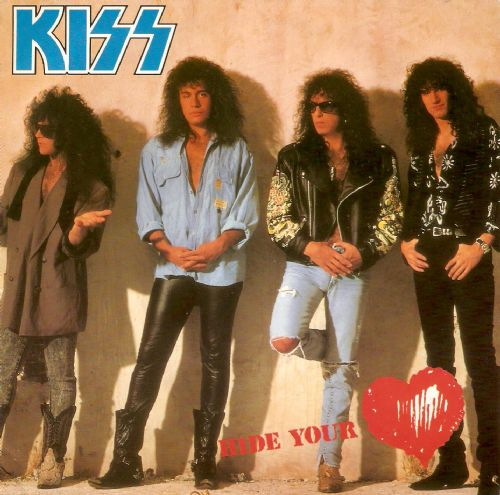 KISS Hide Your Heart Vinyl Record 7 Inch Vertigo 1989